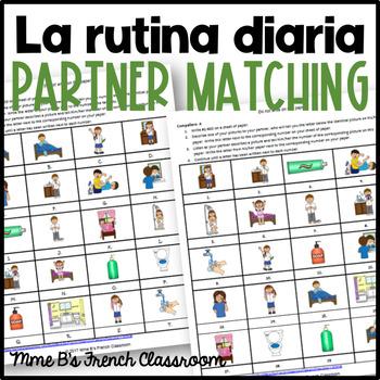 Descubre 1 Lección 7: La rutina diaria partner matching game