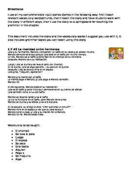 Daily routine story #2 Sibling rivalry - can be used with Descubre 1 Lección 7