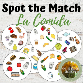 Descubre 1 Lección 8: Spot the match game La Comida