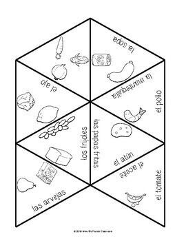 Descubre 1 Lección 8 Vocabulary puzzles: La comida