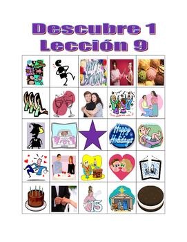 Descubre 1 Lección 9 Bingo game