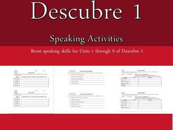Descubre 1 Speaking Activities Units 1-9