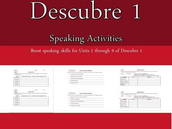 Descubre 1 Speaking Activities Units 1-9