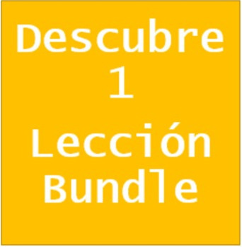 Descubre 1 Vocabulary Crossword Bundle