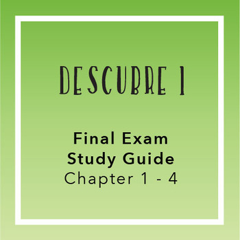 Descubre teaching resources teachers pay teachers descubre 1 final exam study guide chapters 1 4 fandeluxe Image collections