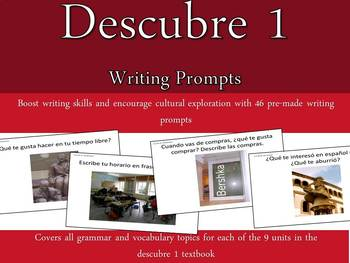 Descubre 1 teaching resources teachers pay teachers descubre 1 vocabulary and grammar writing prompts descubre 1 vocabulary and grammar writing prompts fandeluxe Image collections