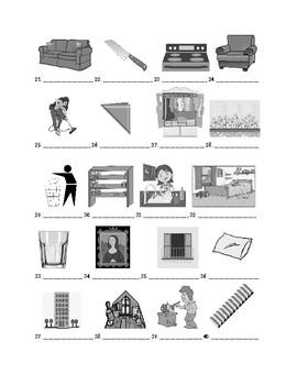 Descubre 2 Chapter 3 Vocabulary Identification Practice/Quiz