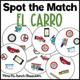 Descubre 2 Lección 2: Spot the match mini-game El carro Spanish car vocabulary