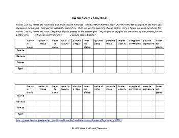 Descubre 2 Lección 3: ¿Adivina quién? A partner speaking activity with chores