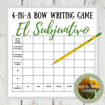 Descubre 2 Lección 3: Connect 4-style writing game with the Subjunctive