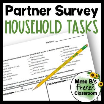 Descubre 2 Lección 3: Household Tasks partner survey