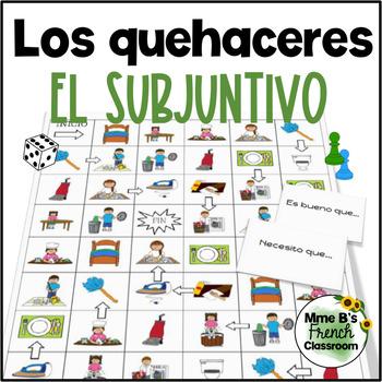 Descubre 2 Lección 3: Los quehaceres/chores board game