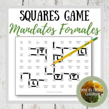 Descubre 2 Lección 3  Squares Game Connect the verbs: Los mandatos formales