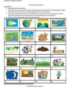 Descubre 2 Lección 4: La Naturaleza  Partner matching game