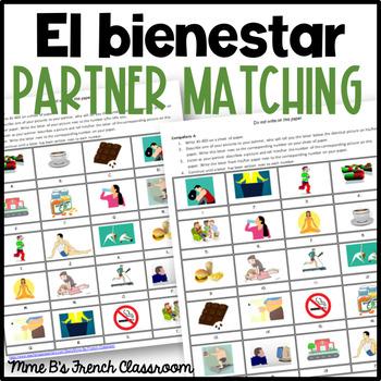 Descubre 2 Lección 6: El bienestar  Partner matching game