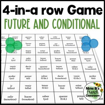 Descubre 2 Lección 7 4-In-A-Row game: Verbs in the future or conditional