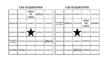 Descubre 2 Lección 7: Bingo: las ocupaciones