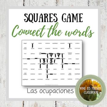Descubre 2 Lección 7  Squares Game Connect the words: las ocupaciones