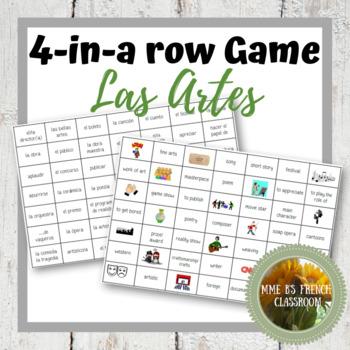 Descubre 2 Lección 8 4-In-A-Row game: Los artes