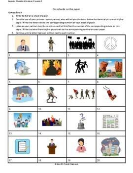 Descubre 2 Lección 9: Las actualidades  Partner matching activity
