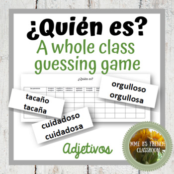 Descubre 3 Lección 1: ¿Quién es? A speaking game using ser, estar and adjectives