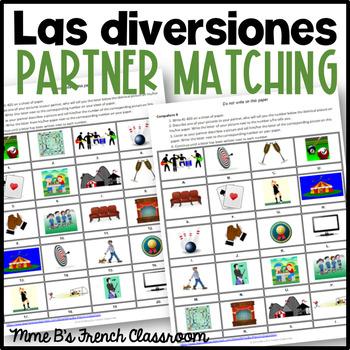 Descubre 3 Lección 2: Las Diversiones  Partner matching activity