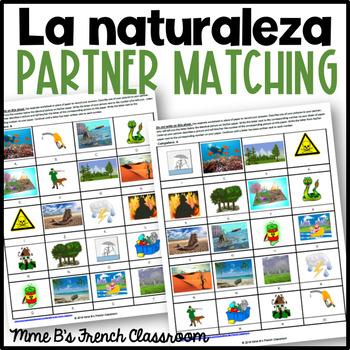 Descubre 3 Lección 6: La Naturaleza  Partner matching game