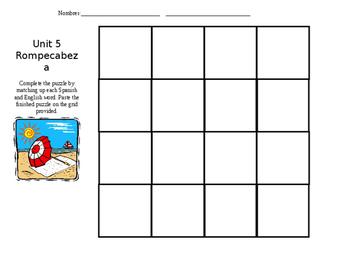 Descubre Unit 5 Vocabulary Puzzle