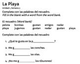 Descubre el español B - Unidad 1 - La playa - Flashcards -