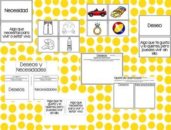 Deseos Y Necesidades: Wants and Needs: Unidad de Ciencias Sociales
