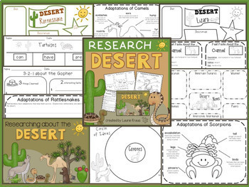 Desert Animals & Adaptations Research Activities and Graphic Organizers