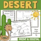 Desert Habitat Activities   Easel Activity Distance Learning