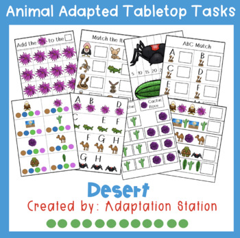 Desert Adapted Thematic Tabletop Tasks