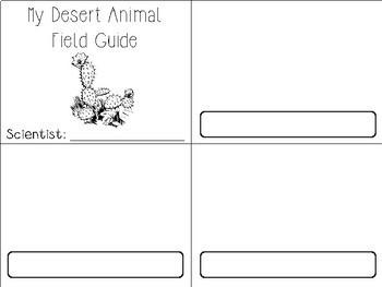 Desert Animals 3 Part Cards & Field Guide