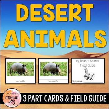 Desert Animals 3 Part Cards & Field Guide