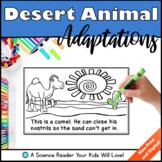 Desert Animal Adaptations Science Reader Distance Learning