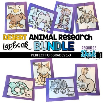 Desert Animal BUNDLE Research Projects - Eight Desert Animal Research Lapbooks