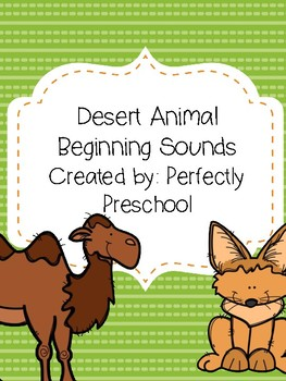 Desert Animal Beginning Sounds