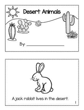Desert Animal Booklet