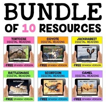 Desert Animal Reading Comprehension Bundle
