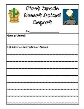 Desert Animal Homework Project