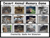Desert Animal Memory Game