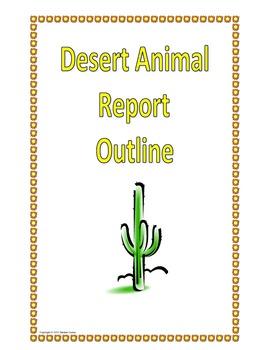 Desert Animal Outline