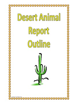 Desert Animal Outline