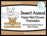 Desert Animal Paper Hat/Crown Printables-Dollar Deal!!