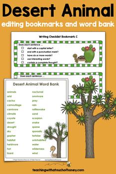 Desert Animal Report: Tiered Report Writing Templates