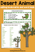 Desert Animal Report: Tiered Report Writing Templates