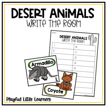 Desert Animal Write the Room