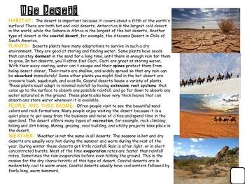 Desert Animal and Habitat Research Informative and Narrati