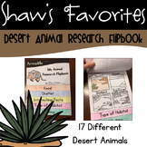 Desert Animal's Habitat Flip Book {17 Different Animals}